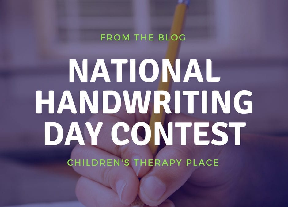 National Handwriting  Day Contest