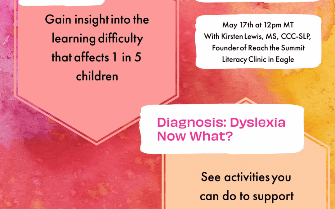 Decoding Dyslexia Lunch & Learn: 2-Part Virtual Event